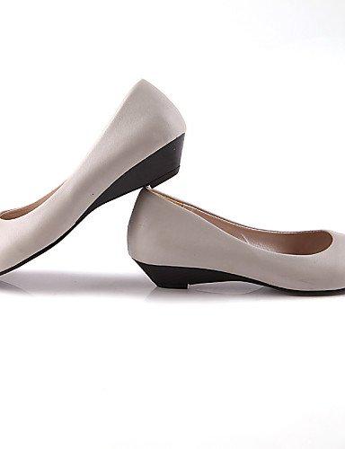 talón 5 uk3 gris eu36 Casual sintética us5 Flats de de 5 plano mujer redonda PDX piel rosa punta negro zapatos gray cn35 SYT6q