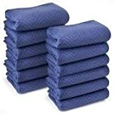 12 Premium Moving Blankets - Pro Quality - Long Durable Lasting - 72