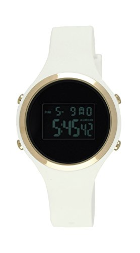 (Moulin Ladies Digital Jelly Watch Dark Screen White #03158-77475)