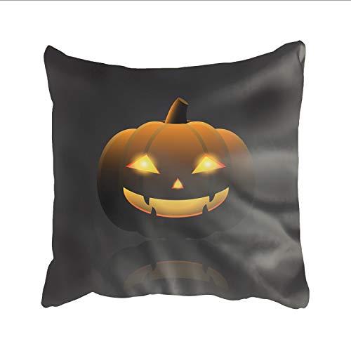 Ranhkdn Cotton Throw Pillow Covers, Halloween Pumpkin Happy