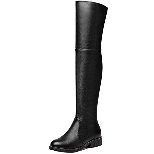 Zipper Half COOLCEPT Black Women 2 Boots xnH7gq