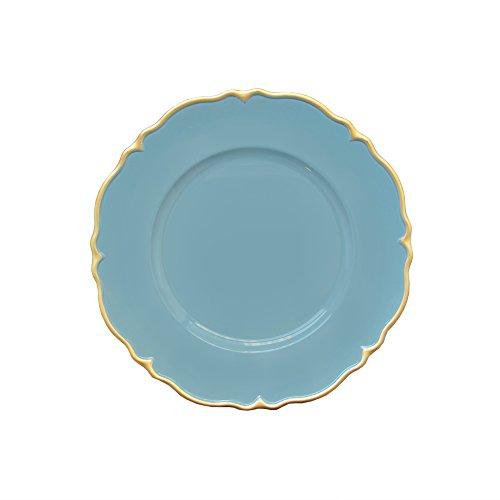 - Elle Decor 1270500-4 Scallop Charger plate, 13 x 13, Blue