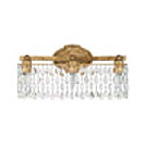 Blakely Bathroom Lighting - Capital Lighting 8528AG-CR Blakely 3-Light Vanity Fixture, Antique Gold Finish with Linear Clear Crystal Accents Shade