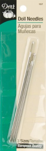 Dritz 5-Piece Doll Needles, Assorted Sizes