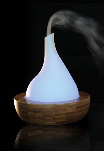 Feng Shui BAMBUS Wasserspiel mit multicolor Beleuchtung und Ultraschall Nebler / Luftbefeuchter 302