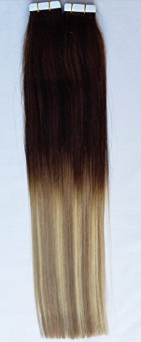 20 inches 100grs,40pcs,OMBRE BALAYAGE 100% Human Tape In Hair Extensions #T2-18/613