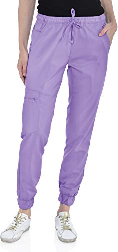 Marilyn Monroe Stretch Jogger Scrubs Pants with Zipper Side Pocket, Available in 13 Colors from XS-2X