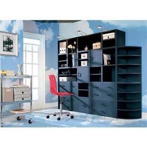 Modular File Cabinet Storage Cube in Black Wood Finish Cabinet File Drawer Filing Office Metal CHOOSEandBUY