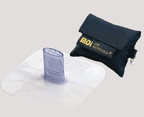 MDI CPR Microshield MicroKey Rescue Breather In Black Nylon Case. (4 (Rescue Breather)