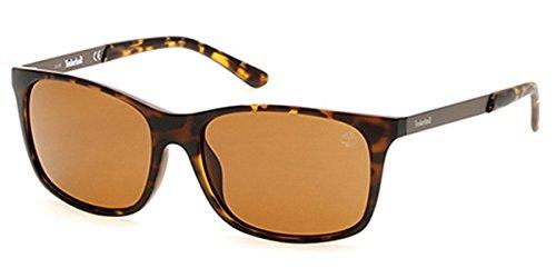 Sunglasses Timberland TB 9095 TB9095 52H dark havana / brown - Timberland Sunglasses Polarized