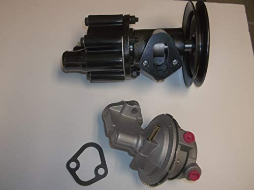 Raw Sea Water Pump Belt Driven Fuel Water Pump with Pulley and Fuel Pump MerCruiser Bravo 454 502 7.4 8.2 Replaces 46-807151A8