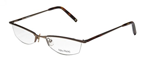 Vera Wang V106 Womens/Ladies Prescription Ready High-class Designer Half-rim Eyeglasses/Spectacles (50-18-135, Sand / - Prescription Classes