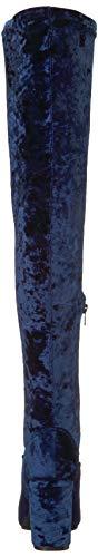 Blue Rund Santana Stiefel by Carlos Royal Rumer Pumps Fashion Carlos Frauen fvAwTwR