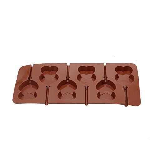- Lollipop Molds, Lollipop Silicone Mold DIY Hard Candy Fudge Chocolate Heart-Shaped Cake Decoration Mold