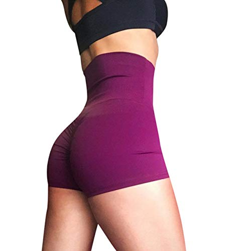 Amazon.com: CUSHY Women39; s high Waist Yoga Shorts Sports ...