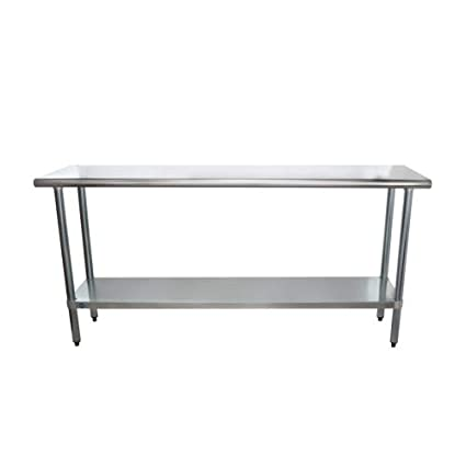 18 x 72 Stainless Steel Work Prep Table with Undershelf Kitchen by LPS Lowpricesupply