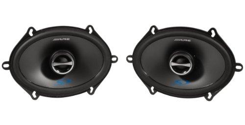 150w Rms Speaker (Alpine Sps-517 5 x 7 Inch 2 Way Pair of Car Speakers Totalling 460 Watts Peak / 150 Watts RMS)