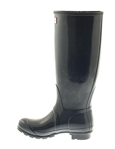 Hunter Original Tall Gloss - Botas para mujer - Navy (WFT1000RGL-NVY)