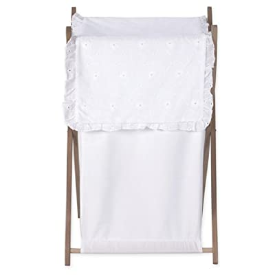 Baby and Kids Clothes Laundry Hamper for White Eyelet Bedding Set by Sweet Jojo Designs : Baby