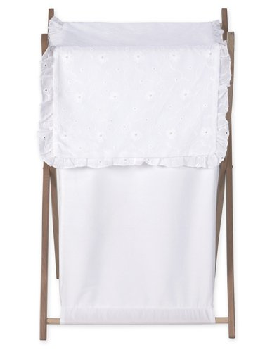 Baby and Kids Clothes Laundry Hamper for White Eyelet Beddin