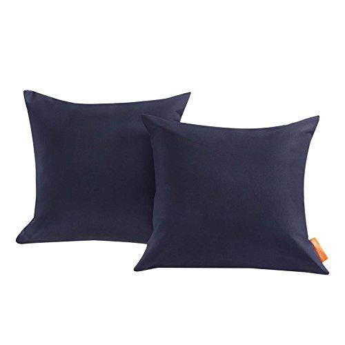 Modway EEI-2001-NAV Convene Two Piece Outdoor Patio Pillow Set, Navy (Patio Pillows Amazon)