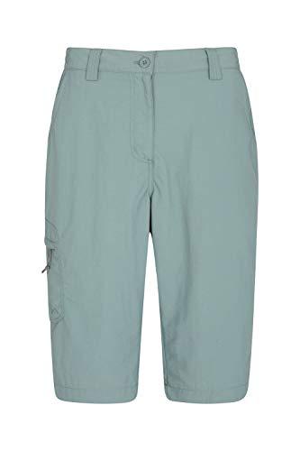 Mountain Warehouse Explore Womens Long Shorts - Ladies Hiking Shorts Green 18