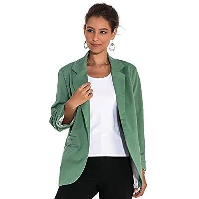 Imbry Women Boyfriend Blazers Jacket Casual Suit Coat at Women's Clothing store