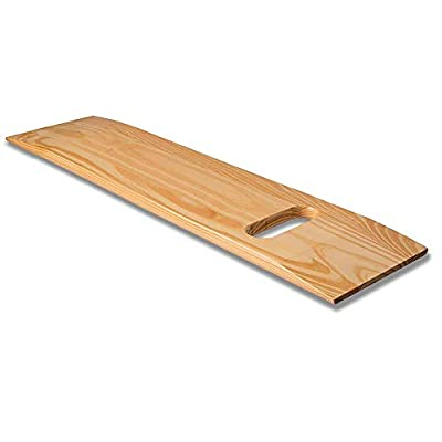 DMI Wooden Slide Transfer Board, 440 lb Capacity Heavy Duty Slide Boards for Transfers of Seniors and Handicap, 30 x 8 x 3/4 - (1) Cut Out Handle