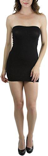 ToBeInStyle Women's Strapless Dress - BLACK