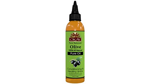 OKAY | 100% Pure Olive Oil | For All Hair Textures & Skin Types | Nourish, Strengthen & Replenish Elasticity | Deep Conditioning | All Natural | 4 - Olive Hair
