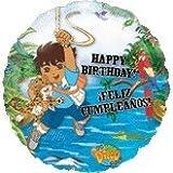 "Single Source Party Supplies - 18"" Go Diego Go Happy Birthday Mylar Foil Balloon"