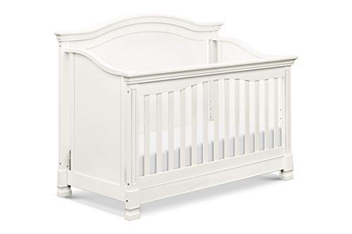 Million Dollar Baby Classic Louis 4-in-1 Convertible Crib with Toddler Bed Conversion Kit, Warm White