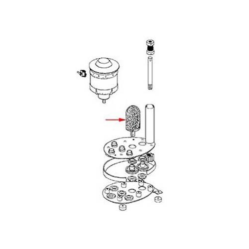 Hamilton Beach 97040 4-6.5'' and 1-8.5'' Brush Kit for Glass Washer
