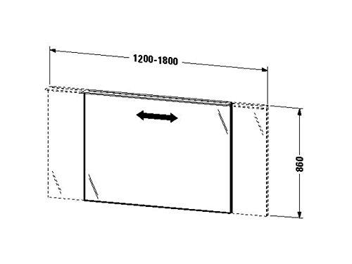 Duravit Spiegel var. mit Beleuchtung X-Large 36/105x1201x860mm, LED, eiche anthrazit, XL729706262