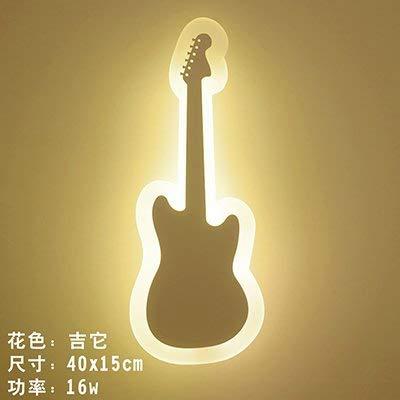 Irinay e16328 Bedside Led Wandleuchte Kinderzimmer Schlafzimmer Wohnzimmer Eine Flur Licht Kreative Cartoon Smiley Wand Lampe Led Wandleuchte Gitarre (Farbe   Colour-Größe)