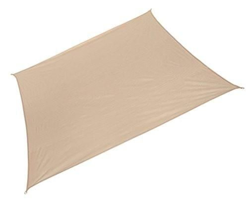 Coolaroo Ready-to-hang Rectangle Shade Sail Canopy, Desert Sand - 13ft x (Shade Sail Desert Sand)