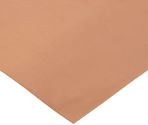 110 Copper Shim Stock, Annealed Temper, MIL-C12168/CDA-110, 0.010'' Thick, 6'' Width, 100'' Length by Small Parts