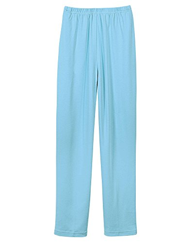 UltraSofts Elastic-Waist Interlock Pull-On Pants, Aqua, Petite (Pull On Knit Pants)