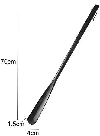 軽量 便利なハンギングループを備えた木製靴べら70センチメートルロングシューホーン 耐用 (Color : Coffee, Size : 70*4cm)