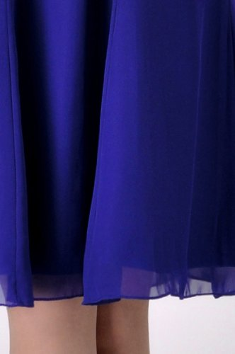 Chiffon Length A Line Dress Knee Adorona Kornblume Women's Blau w4XpZf
