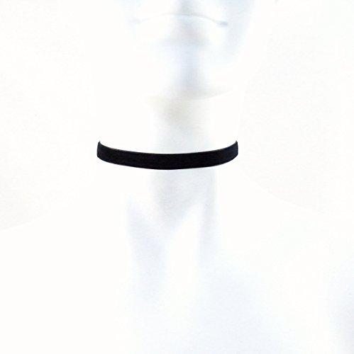 Arthlin Jewelry 3/8'' Skinny Black Velvet Choker Necklace, Handmade in the USA (Burlesque Jewellery)