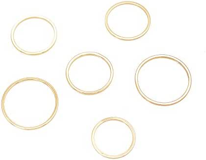 Stacking Skinny Wire Ring and Midi Ring Set of 6
