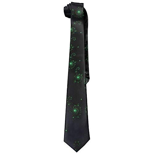 (ZOZGETU Necktie, Green Spiral Abstract Light Polyester Neckwear Silk Neck Tie, Men's Classic Neckties,Graduation Meeting Business Casual Skinny)