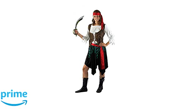 P tit payaso disfraz adulto lujo pirata mujer falda ...