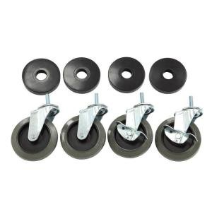 Perfect Home 4 in. Industrial Casters (4-Pack) with bumper