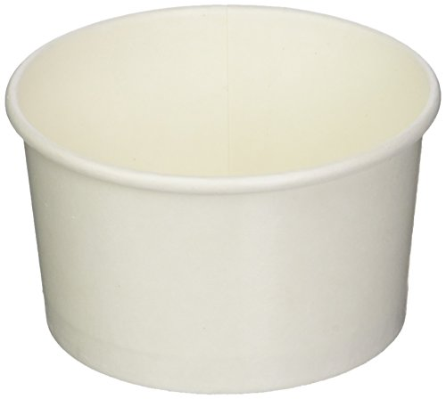 200-CT Disposable White 5-OZ Ice Cream Cups - Coppetta Medium Hot and Cold To Go Cups: Perfect for Cafes – Eco-Friendly Recyclable Paper Cup – Wholesale Takeout Food Container - Out Cup