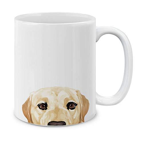 MUGBREW Cream Labrador Retriever Dog Ceramic Coffee Gift Mug Tea Cup, 11 OZ