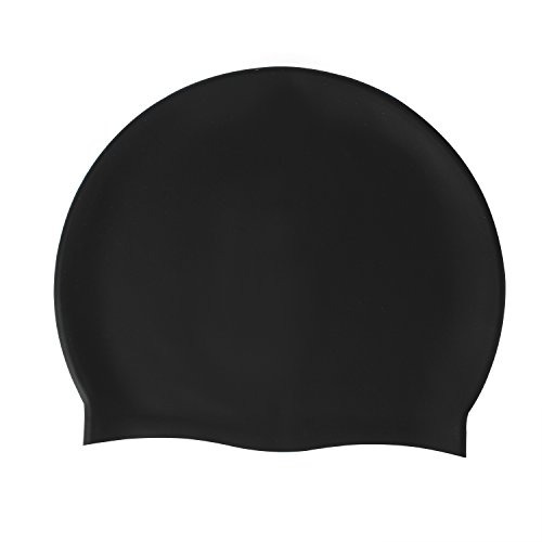 Zeraca Silicone Solid Waterproof Swim Cap for Men Women Youth - Cap Personalized Swim