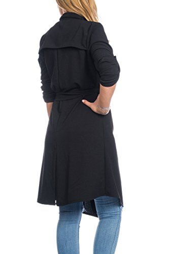 Collection Manteau Trench Beige Kendindza Noir Femme SZPw4nOq4v
