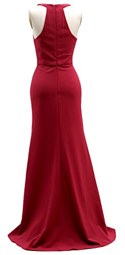 Women cn Gown32Burgundy Ball V Formal Neck Cocktail Party Dress Long Evening Macloth Elegant iuXZOkP